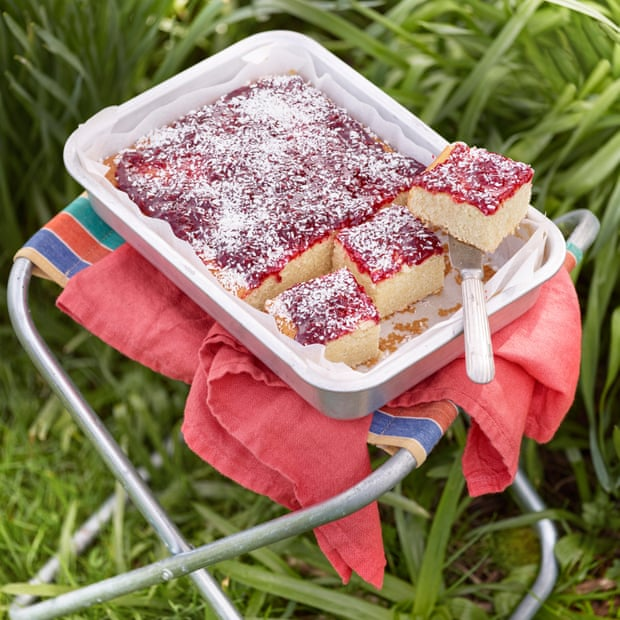 Jam sheet cake for outside by Claire Ptak